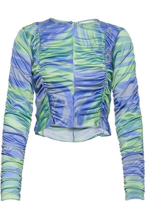 Hosbjerg Dali Asta Long Sleeve Crop Tops Multi/mønstret