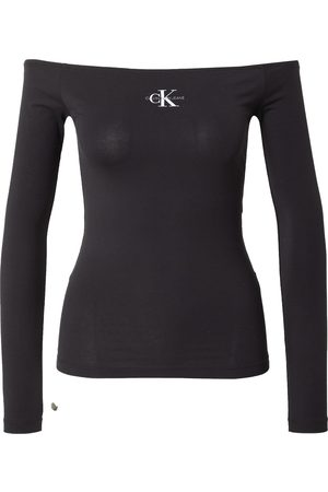 Calvin Klein Jeans Skjorte 'MICRO MONOGRAM LS BARDOT TOP