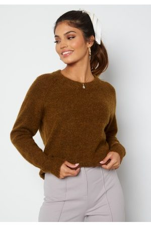 SELECTED Lulu LS Knit O-Neck Rubber XS