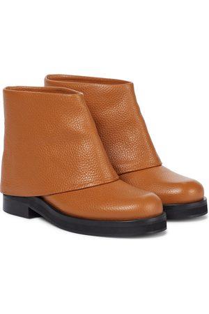 J.W.Anderson Dame Skoletter - Foldover leather ankle boots