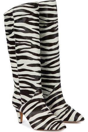 Isabel Marant Laylis calf hair knee-high boots