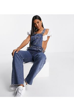 AsYou Dungaree with hip strap in mid blue