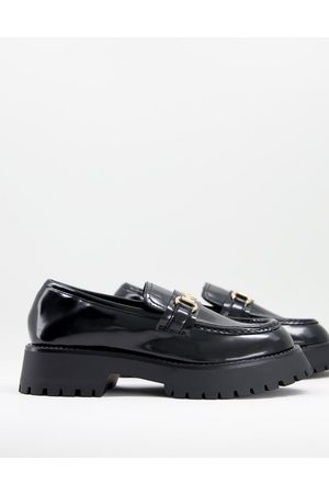 ASOS Monster chunky loafers in black