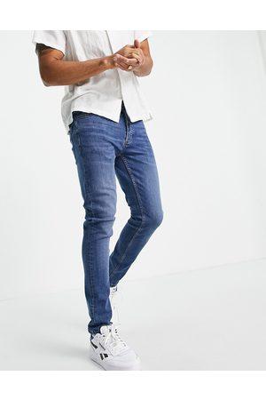 Topman Herre Skinny - Stretch skinny jeans in mid wash-Blue