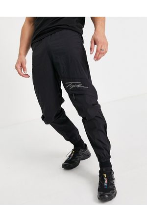 Topman Herre Cargobukser - Signature relaxed cargo with stitch detail in black