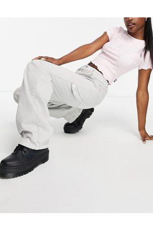 ASOS Mid rise oversized 'skater' jean in pebble grey
