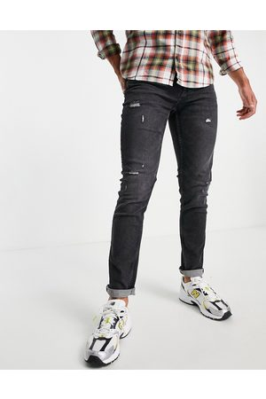 Only & Sons Herre Skinny - Slim fit jeans in washed black