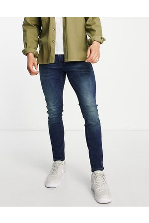 Only & Sons Herre Skinny - Skinny fit jeans in midwash blue