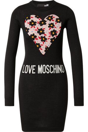 Love Moschino Strikkekjole 'VESTITO INTARSIO CUORE 80'S FLOWERS