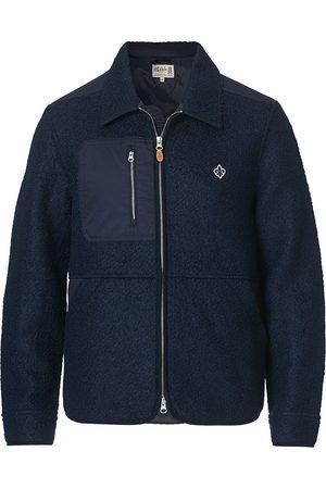 Morris Herre Jakker - Brookley Pile Jacket Navy