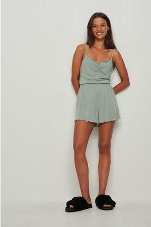 NA-KD Dame Shorts - Myk børstet shorts med babylock