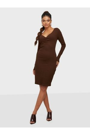VILA Dame Hverdagskjoler - Vifelia L/S Jersey Slim Rib Dress/K