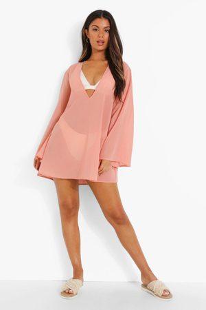 Boohoo Oversized Flared Sleeve Beach Dress