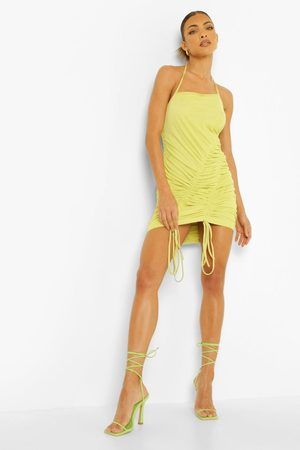 Boohoo Strappy Ruched Detail Mini Dress
