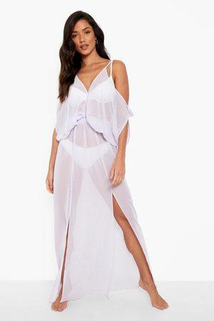 Boohoo Batwing Maxi Beach Dress