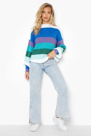 Boohoo Rainbow Stripe Jumper