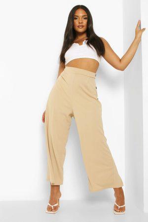 Boohoo Plus Button Culotte Trouser