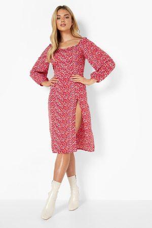 Boohoo Animal Print Midi Dress