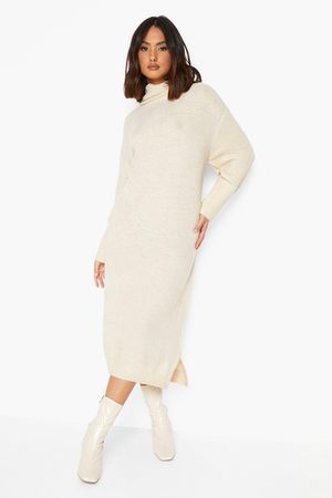 Boohoo Cowl Neck Midaxi Knitted Dress