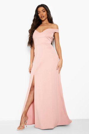 Boohoo Sweetheart Off Shoulder Bodycon Maxi Dress