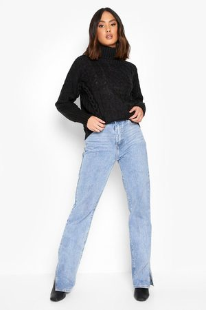 Boohoo Lace Up Detail Roll Neck Jumper
