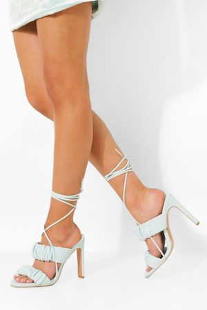 Boohoo Ruched Wrap Up Sandal