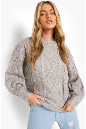 Boohoo Chunky Cable Knit Jumper