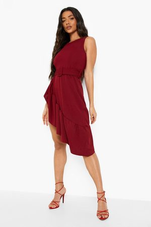 Boohoo Sleeveless Frill Hem Midi Dress