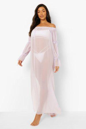 Boohoo Bardot Beach Maxi Dress