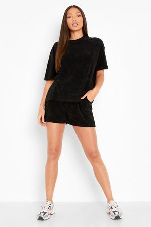 Boohoo Tall Terry Towelling T-shirt & Short Set