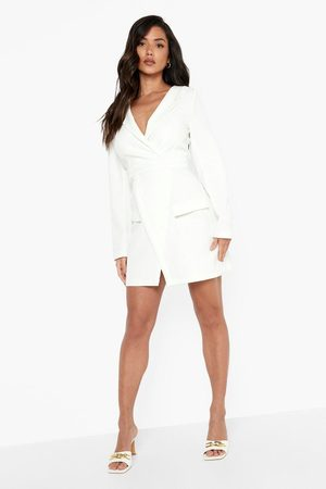 Boohoo Wrap Detail Long Sleeve Blazer Dress