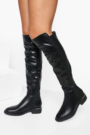 Boohoo Over The Knee Panel Detail Boots