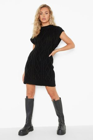Boohoo Cable Sleeveless Knitted Longline Tank