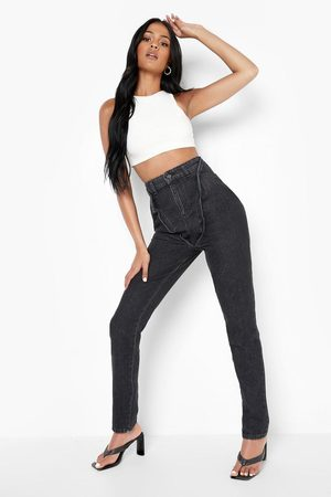 Boohoo Tall Acid Wash Double Layer Mon Jeans