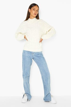 Boohoo Turtle Neck Cable Knit Jumper