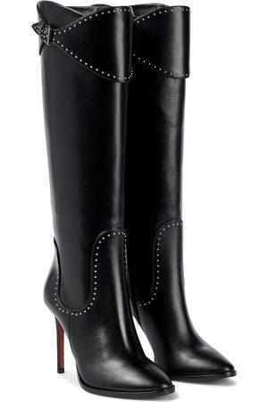 Alaïa Studded leather knee-high boots