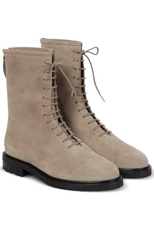 LEGRES Lace-up suede ankle boots