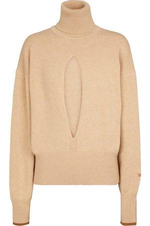 Victoria Beckham Cutout cashmere-blend knit sweater