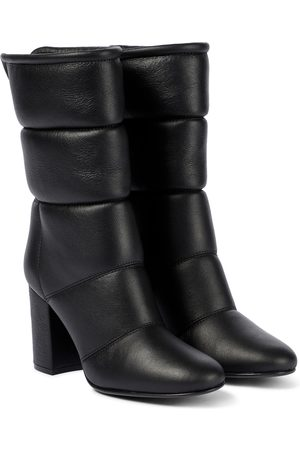 Gianvito Rossi Husky 85 leather ankle boots