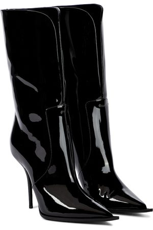 Dolce & Gabbana Cardinale patent leather ankle boots