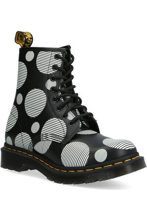 Dr. Martens 1460 Black+White Polka Dot Smooth Shoes Boots Ankle Boots Ankle Boot - Flat