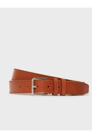 SELECTED Herre Belter - Slhnate Leather Belt B Noos Belter Cognac
