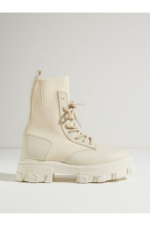 NLY Dame Støvletter - Two Faced Lace Up Boot