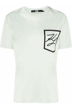 Karl Lagerfeld Dame Kortermede - Logo-print pocket T-shirt