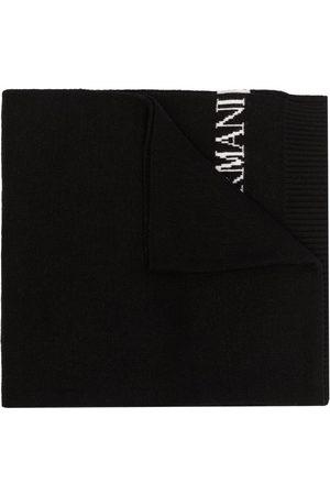 Emporio Armani Herre Skjerf - Intarsia-knit logo scarf