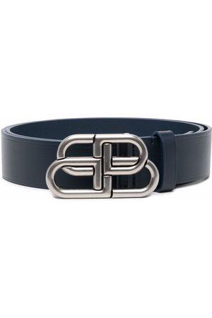 Balenciaga Logo buckle leather belt