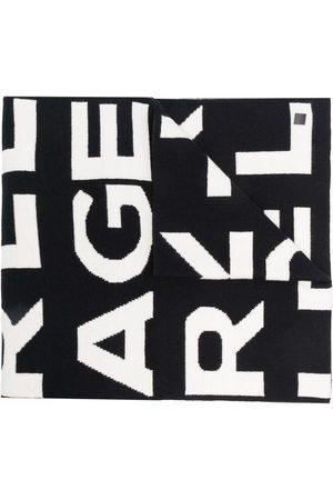 Karl Lagerfeld AOP block logo scarf