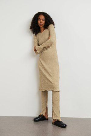 Gina Tricot Dame Strikkede kjoler - Signe rib dress