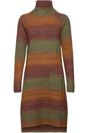 Culture Cuwilda Knit Dress Knelang Kjole Brun