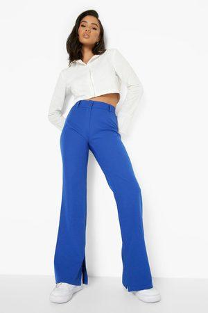 Boohoo Straight Leg Inside Split Formal Trousers